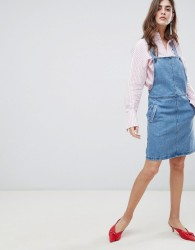 Gestuz Margaret Denim Pinafore Dress - Blue