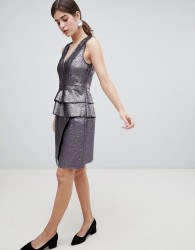 Gestuz Naima Crackled Faux Leather Wrap Skirt - Purple