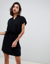 Gestuz Narissa Floral High Neck Shift Dress - Black