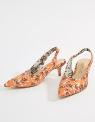 Gestuz Orange Printed Heeled Sandals - Orange