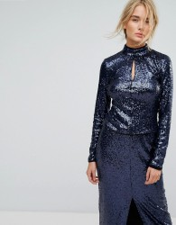 Gestuz Sequin Top - Blue