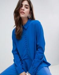 Gestuz Skya Buttoned Blouse - Blue