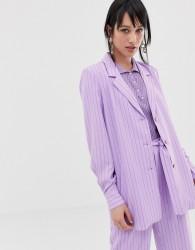Gestuz Tara pinstripe blazer - Purple