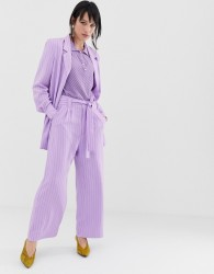 Gestuz Tara pinstripe wide leg trouser - Purple