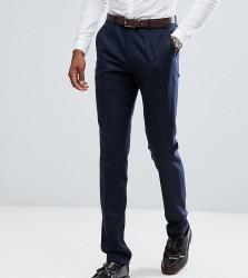 Gianni Feraud TALL Slim Fit Navy Herringbone Suit Trousers - Navy