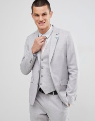 Gianni Feraud Wedding Slim Fit Suit Jacket - Grey