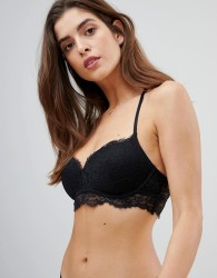 Gilly Hicks eyelash lace non wired push up bra - Black