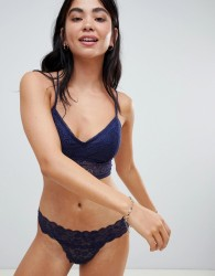 Gilly Hicks lace thong - Navy