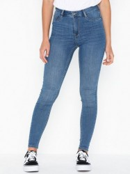 Gina Tricot Molly High Waist Jeans Skinny fit Mid Blue