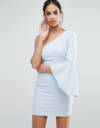 Ginger Fizz One Shoulder Mini Dress - Blue