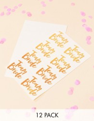 Ginger Ray Rose Gold Team Bride Temporary Tattoos x16 - Multi