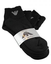 Giorgio Armani 3 par Armani Korte sokker i Sort 302202 CC195 00020