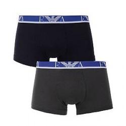 Giorgio Armani Emporio Armani 2-Pak Boxer Brief Mørkeblå og Grå Boxer Briefs 111268 7A715 18544