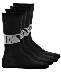 Giorgio Armani Emporio Armani 2 Par Sokker i Sort med logo 302302 8A240 07320