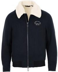 Giorgio Armani Emporio Armani Shearling Jacket Navy men 50