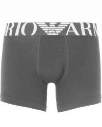 Giorgio Armani Emporio Armani - Stretch Cotton - Boxer Breif - Grå med mørke grå elastik - 110818 7P516 06343