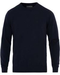 Giorgio Armani Emporio Armani Virgin Wool Crew Neck Pullover Navy men L