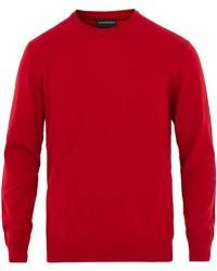 Giorgio Armani Emporio Armani Virgin Wool Crew Neck Pullover Red men L
