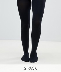 Gipsy 120 denier opaque 2 pack tights - Black