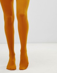 Gipsy Cable Design Tights - Yellow