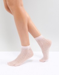 Gipsy Candy Pelerine Ankle Sock - Pink