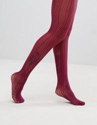 Gipsy Chevron Crochet Tights - Purple