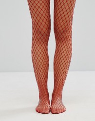 Gipsy Extra Large Fishnet Tights - Red