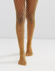 Gipsy Extra Large Fishnet Tights - Yellow
