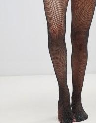 Gipsy Glitter Fishnet Tights - Black