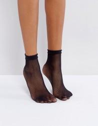 Gipsy Micro Fishnet Sock - Black