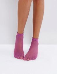 Gipsy Micro Fishnet Sock - Purple