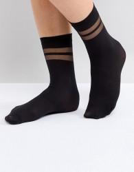 Gipsy Stripe Ankle Sock - Black