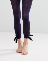 Gipsy Tie Side Footless Tights - Blue