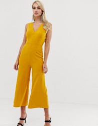 Girl In Mind v neck jumpsuit - Yellow