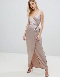 Girl In Mind v neck wrap maxi dress - Pink