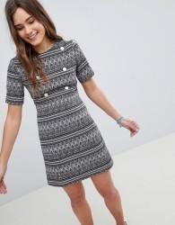 Girls On Film Printed Shift Dress - Multi