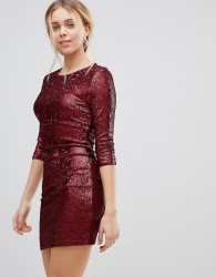 Girls on Film Sequin Mini Dress - Red