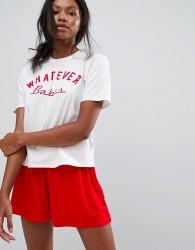 Girls on Film Whatever Babes Nightwear Set - White