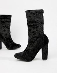 Glamorous Heeled Boots - Black