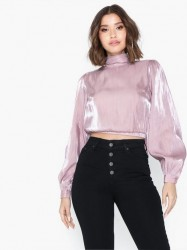 Glamorous Long Sleeve Metallic Top Bluser & skjorter