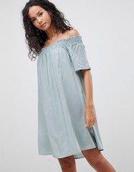 Glamorous Off Shoulder Dress - Green