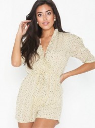 Glamorous Puff Sleeve Playsuit Playsuits
