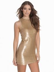 Glamorous Sequin Bodycon Pailletkjoler Golden