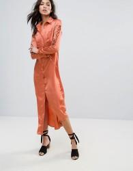 Glamorous Shirt Dress - Copper