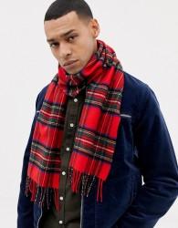 Glen Lossie tartan lambswool scarf - Red
