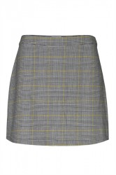 Global Funk - Nederdel - Birmingham Glen Check - Yellow Glen Plaid Check