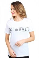 Global Funk - T-shirt - Leica Global Logo Tee - White/Black