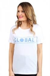 Global Funk - T-shirt - Leica Global Logo Tee - White/Blue