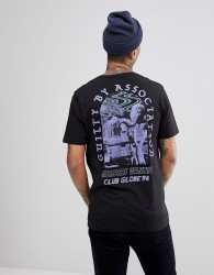Globe 94 T-Shirt With Skate Back Print In Black - Black