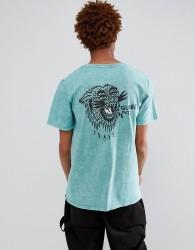 Globe Howler Back Print T-Shirt in Blue - Blue